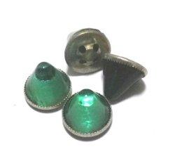 画像1: Antique Green Curcular Corn Rosemontee 11.4mm