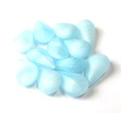 画像1: Frosted Lt.Blue Swirl Drop 10*6mm (10個入り)